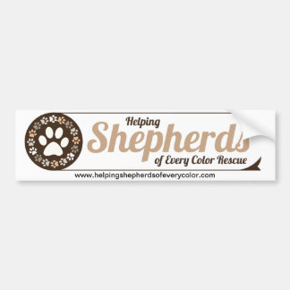 Helping Shepherds Bumper Sticker with Website