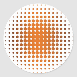Helping tone orange classic round sticker