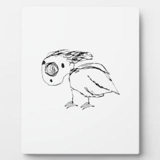 Helpless Bird Sketch Up Plaque