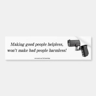 Helpless vs Harmless Bumper Sticker