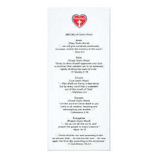 Helpology™ Biblemark™ 4x9.25 Paper Invitation Card