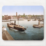 Helsingborg harbor and city hall Sweden Mousepad