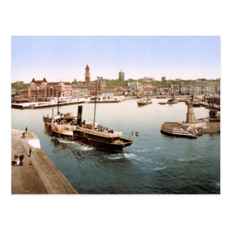 Helsingborg harbor and city hall Sweden Postcard