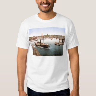 Helsingborg harbor and city hall Sweden T Shirt