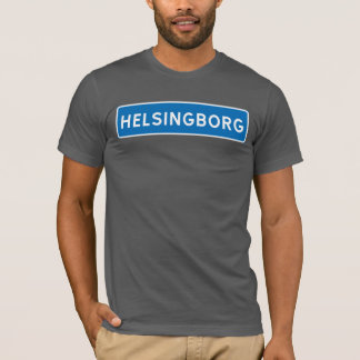 Helsingborg, Swedish road sign T-Shirt