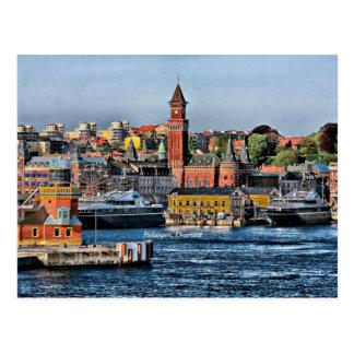 Helsingor, Denmark cityscape Post Card