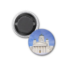 Helsinki Cathedral Tuomiokirkko In Winter Magnet at Zazzle