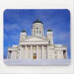 Helsinki Cathedral Tuomiokirkko In Winter Mousepad