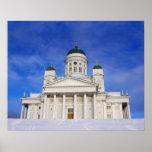Helsinki Cathedral Tuomiokirkko In Winter Poster