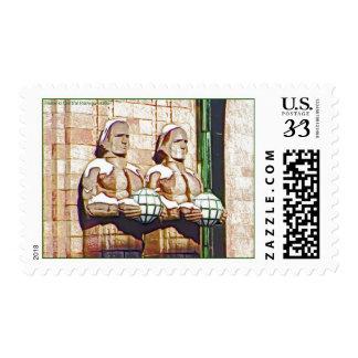 Helsinki Central Railway Station Stamp