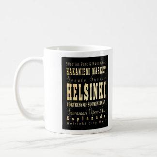 Helsinki City of Finland Typography Art Coffee Mug