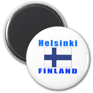 Helsinki Finland capital designs Fridge Magnet
