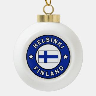 Helsinki Finland Ceramic Ball Christmas Ornament