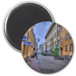 Helsinki Finland City Scene, 2 Inch Round Magnet