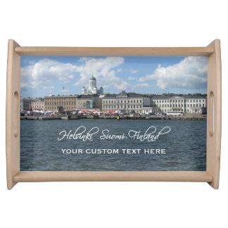 HELSINKI Finland custom serving tray