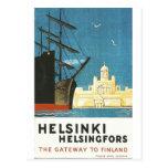 Helsinki, Finland vintage travel postcard