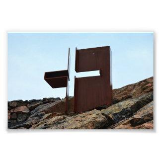 Helsinki, Finlandia, cruz de la iglesia de la roca Cojinete