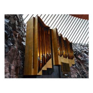 Helsinki, Finlandia, órgano de la iglesia de la Postal