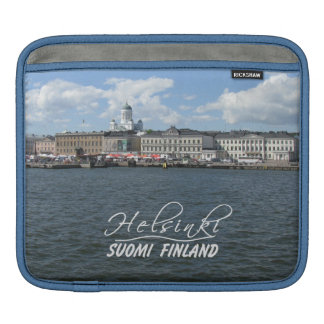 Helsinki Harbor custom laptop / iPad sleeve