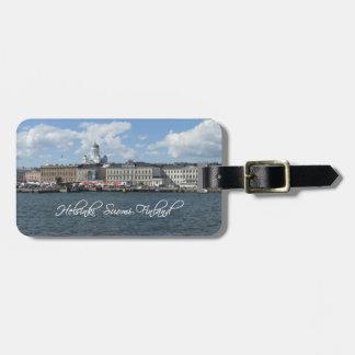 Helsinki Harbor custom luggage tag