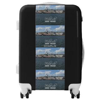 Helsinki Harbor custom name luggage