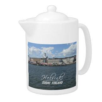 Helsinki Harbor custom teapot