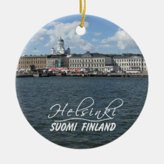 Helsinki Harbor ornament, customize Ceramic Ornament