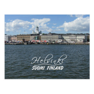 Helsinki Harbor postcard, customize Postcard