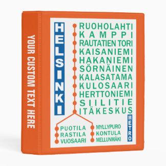 Helsinki Metro Stations custom binder