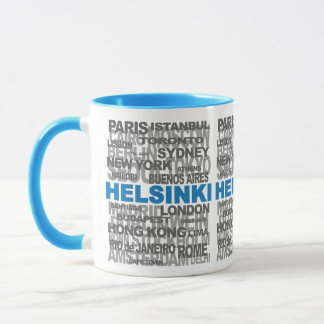 HELSINKI & other cities mug - choose style & color