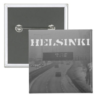 Helsinki rush hour badge pinback button