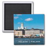 Helsinki Skyline 2 Inch Square Magnet