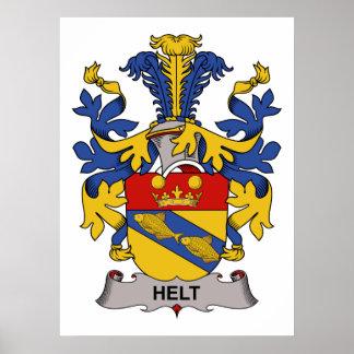 Helt Family Crest Poster