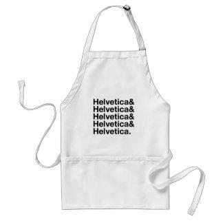 Helvetica& Adult Apron