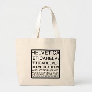 Helvética ajustado bolsa tela grande