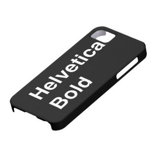 Helvetica Bold iPhone SE/5/5s Case