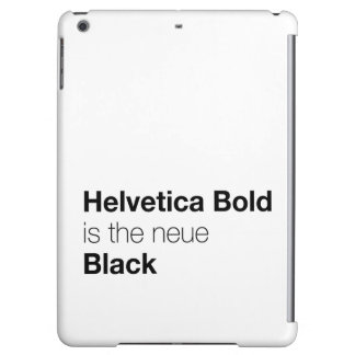 Helvetica Bold is the neue Black iPad Air Cases
