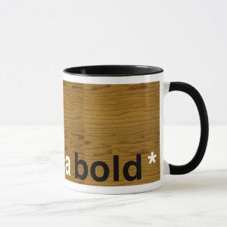 helvetica bold mug