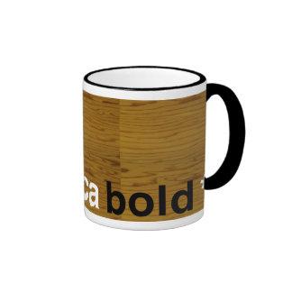 helvetica bold ringer mug