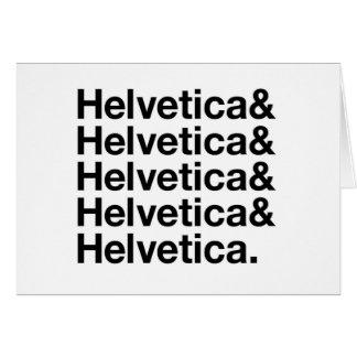 Helvetica Card