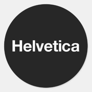 Helvetica Classic Round Sticker