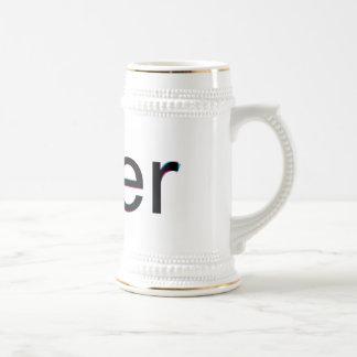 Helvética contra stein arial de la cerveza tazas de café