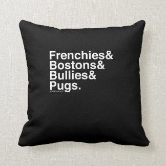 Helvetica Dogs Pillow