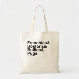 Helvetica Dogs Tote
