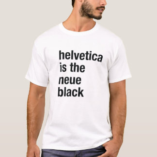 Helvética es el negro del neue playera