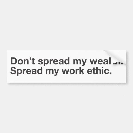 Helvética no separe mi wealth-w/b etiqueta de parachoque