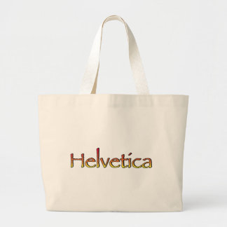 Helvetica Papyrus Tote Bag
