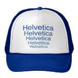 Helvetica Regular Repeating Carny Style Trucker Hats