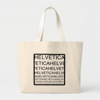 Helvetica Squared Canvas Bag