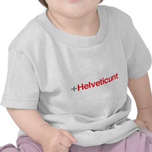 Helveticunt (rojo) camisetas